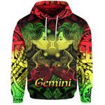 Gemini zodiac Mix Polynesian Tattoo Hoodie Rasta