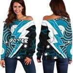 Power Off Shoulder Sweater Thunda Port Adelaide | 1st New Zealand
