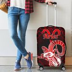 Aries zodiac With Symbol Mix Polynesian Tattoo Luggage Covers
