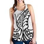 Aotearoa Maori New Zealand Women Racerback Tank Tribal Fern White | 1st New Zealand