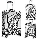 Aotearoa Maori New Zealand Luggage Covers Tribal Fern White | 1st New Zealand