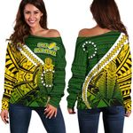 Cook Islands Off Shoulder Sweater Style Turtle Rugby | 1st New Zealand