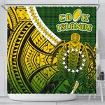 Cook Islands Shower Curtain Style Turtle Rugby | 1st New Zealand