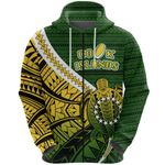 Cook Islands Zip Hoodie Style Turtle Rugby | 1st New Zealand