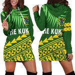 Cook Islands Rugby Women Hoodie Dress Coconut Leaves - The Kuki's | 1st New Zealand