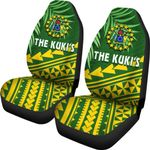 Cook Islands Rugby Car Seat Covers Coconut Leaves - The Kuki's | 1st New Zealand