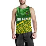 Cook Islands Rugby Men Tank Top Coconut Leaves - The Kuki's | 1st New Zealand