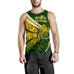 Cook Islands Men Tank Top Style Turtle Rugby | 1st New Zealand