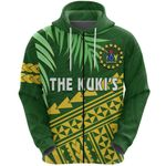 Cook Islands Rugby Zip Hoodie Coconut Leaves - The Kuki's   1st New Zealand