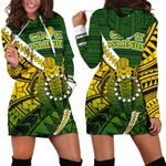 Cook Islands Women Hoodie Dress Style Turtle Rugby | 1st New Zealand
