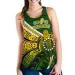 Cook Islands Women Racerback Tank Style Turtle Rugby | 1st New Zealand
