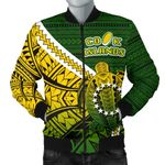 Cook Islands Men Bomber Jacket Style Turtle Rugby | 1st New Zealand