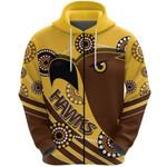 Pride Hawks Zip Hoodie Hawthorn Indigenous | 1st New Zealand