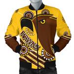 Pride Hawks Men Bomber Jacket Hawthorn Indigenous   1st New Zealand