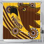 Pride Hawks Shower Curtain Hawthorn Indigenous | 1st New Zealand