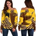 Pride Hawks Off Shoulder Sweater Hawthorn Indigenous | 1st New Zealand