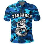 Tangaroa God Sea Polo Shirt Aotearoa K4