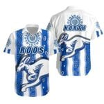 Melbourne Kangaroos Hawaiian Shirt Indigenous North - Roos White | 1st New Zealand