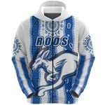 Melbourne Kangaroos Zip Hoodie Indigenous North - Roos White | 1st New Zealand