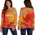 Suns Off Shoulder Sweater Sun Indigenous Gold Coast |1st New Zealand