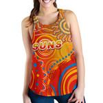 Suns Women Racerback Tank Sun Indigenous Gold Coast |1st New Zealand