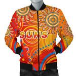 Suns Men Bomber Jacket Sun Indigenous Gold Coast |1st New Zealand