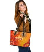 Suns Small Leather Tote Sun Indigenous Gold Coast |1st New Zealand