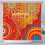 Suns Shower Curtain Sun Indigenous Gold Coast |1st New Zealand