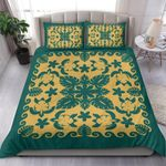 Turtle with Hibiscus Royal Blue Stone Bedding Set