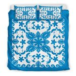 Turtle with Hibiscus Royal Blue  Bedding Set TH5