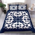 Turtle with Hibiscus Royal Navy Bedding Set