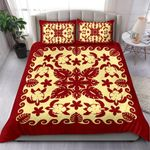 Turtle with Hibiscus Royal Red Bedding Set
