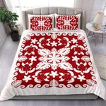 Turtle with Hibiscus Royal White Bedding Set