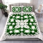 Turtle with Hibiscus Royal Bedding Set Palm Leaf