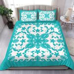 Turtle with Hibiscus Royal Turquoise Bedding Set
