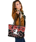 Dragons Small Leather Tote St. George Indigenous Limited |1st New Zealand