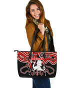 Dragons Large Leather Totes St. George Indigenous Limited |1st New Zealand