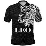 Sun In Leo Zodiac Polo Shirt Polynesian Tattoo Simple - White K8