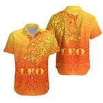 Sun In Leo Zodiac Hawaiian Shirt Polynesian Tattoo Simple - Orange K8
