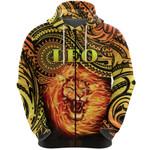 Sun In Leo Zodiac Zip Hoodie Polynesian Tattoo Unique Vibes K8