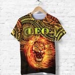 Sun In Leo Zodiac T Shirt Polynesian Tattoo Unique Vibes K8