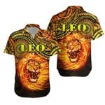 Sun In Leo Zodiac Hawaiian Shirt Polynesian Tattoo Unique Vibes K8