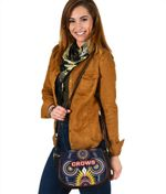 Adelaide Leather Saddle Bag Original Indigenous Crows