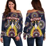 Adelaide Women's Off Shoulder Sweater Original Indigenous Crows