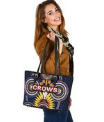 Adelaide Small Leather Tote Original Indigenous Crows