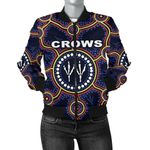 Adelaide Women Bomber Jacket Indigenous Crows Footprint