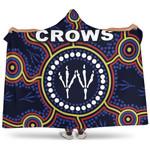 Adelaide Hooded Blanket Indigenous Crows Footprint