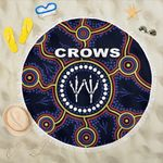 Adelaide Beach Blanket Indigenous Crows Footprint