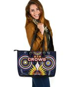 Adelaide Large Leather Tote Original Indigenous Crows