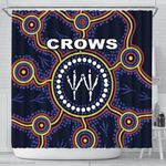 Adelaide Shower Curtain Indigenous Crows Footprint